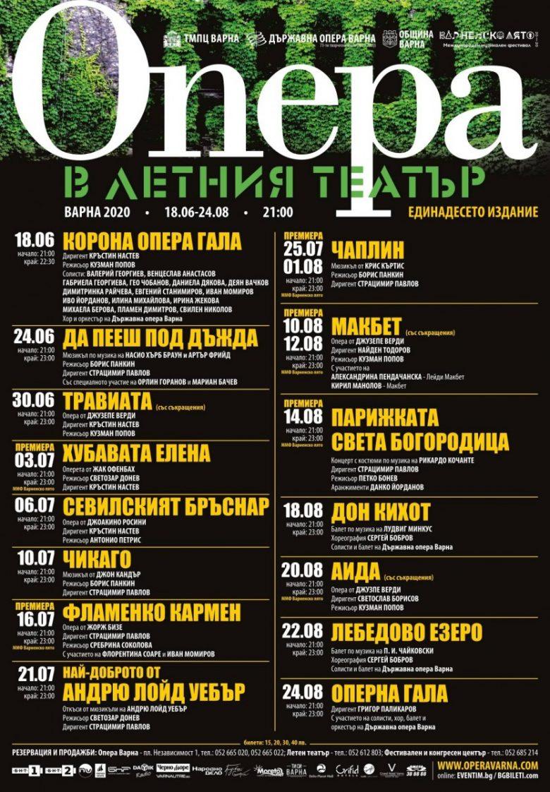 КУЛТУРА ВСЕКИ ДЕН Опера в Летния театър